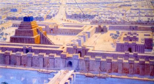 Esagila complex in Babylon