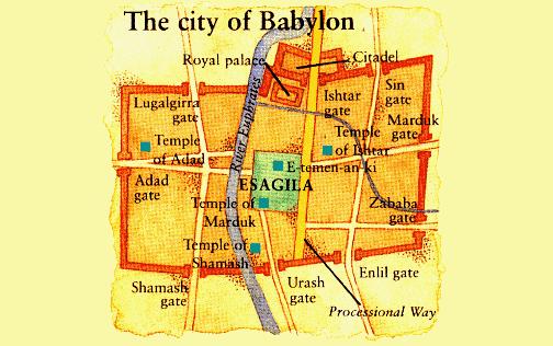 Map of Esagila in Babylon