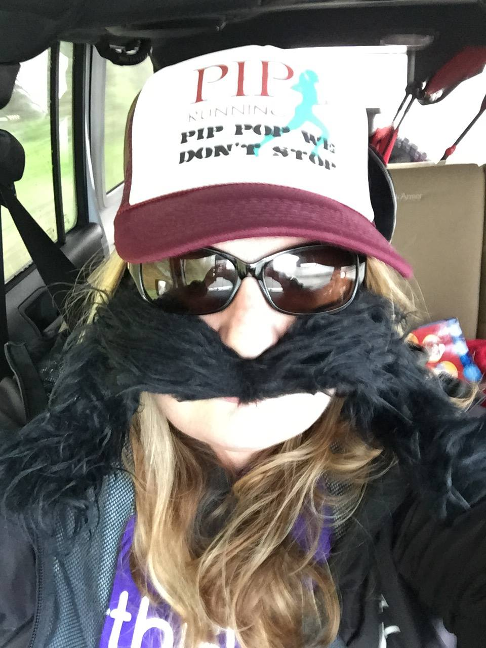 Diane sporting her 'stache for The Mustache Dash!