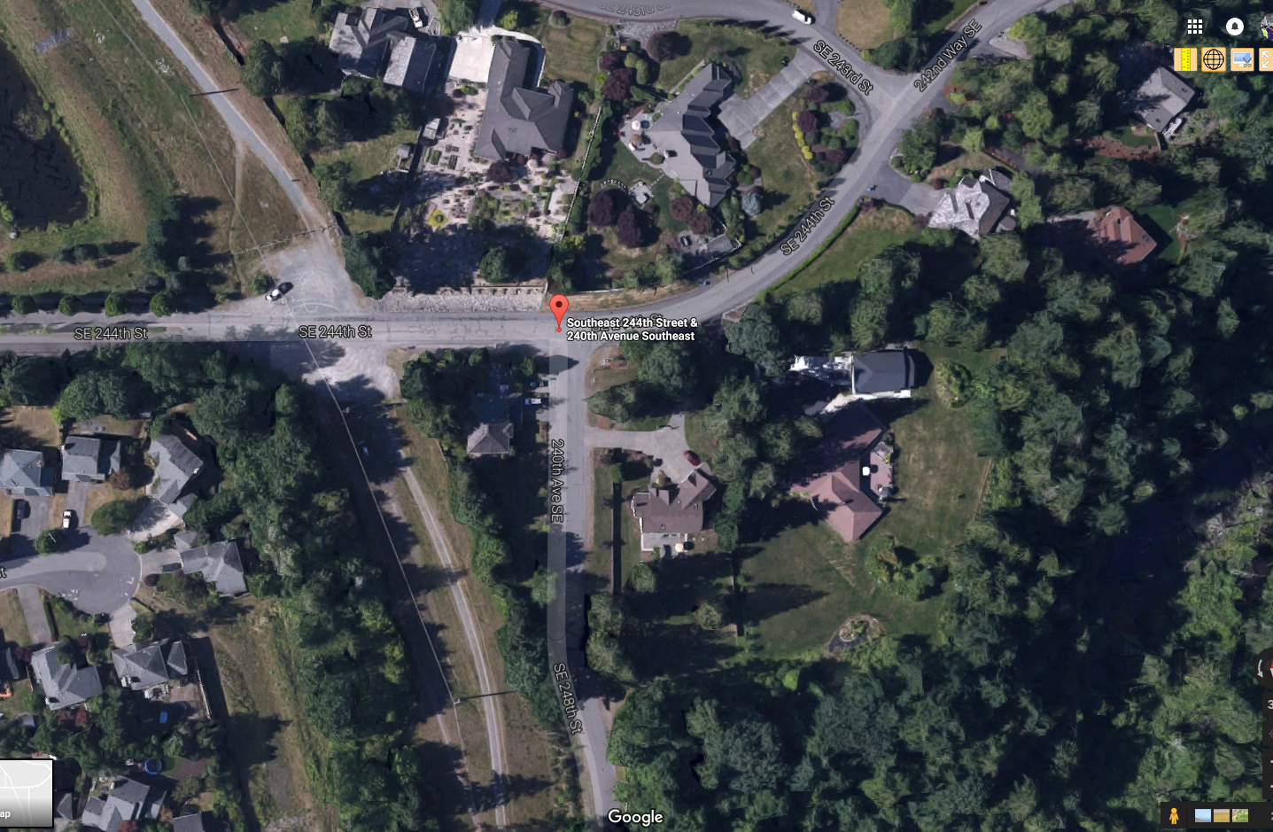 We are meeting at the trail that is about 1/2 block before the intersection in the address