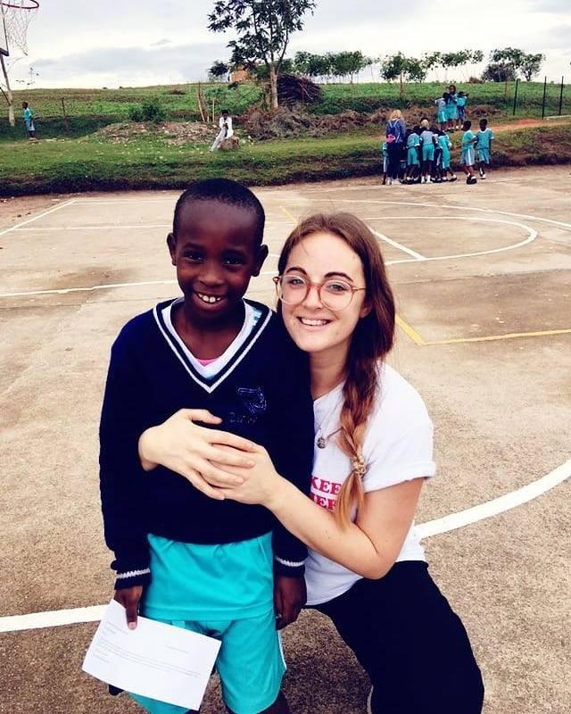 Nicola in Urukundo Childrens home, Rwanda