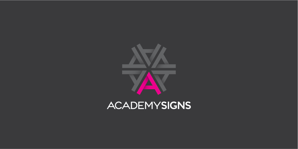 Academy Signs Logo designed by ThompsonCo