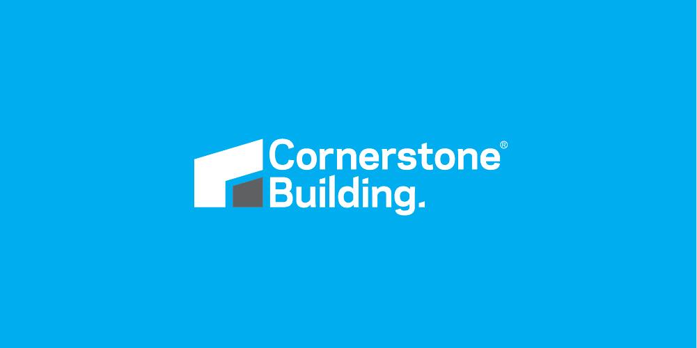 Cornerstone Building logo designed by ThompsonCo