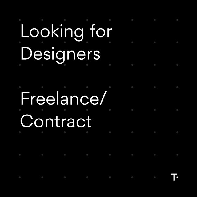 We're on the hunt for freelance graphic designers and web designers. Preferably NZ based. Email us with examples of your work if you can hit the ground running!  hello@studiothompson.co