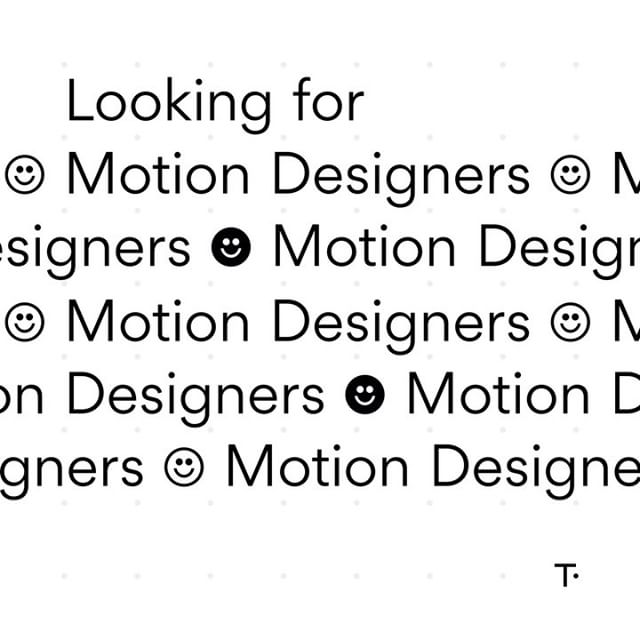 We're on the look out for proficient designers in the realm of motion graphics and animation in a freelance/contract based capacity. 3D experience is ideal. Preferably NZ based. Get in touch with your info and links to your work if that sounds like you! hello@studiothompson.co