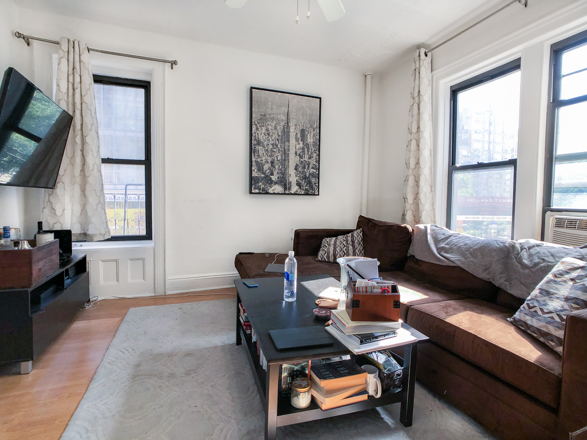 558 Broome St #5 - Welcome to your new home that is full on natural light, large living as well as bedroom area, and separate eat in kitchen! The apartment is filled with light, hardwood floors throughout and offering a great layout! Located in a charming walk up building in prime Soho! Close to subway stations, cafes and restaurants! Rent: $2,800 /monthTerms: 12 - 12 MonthsAvailable: July 7th, 2019