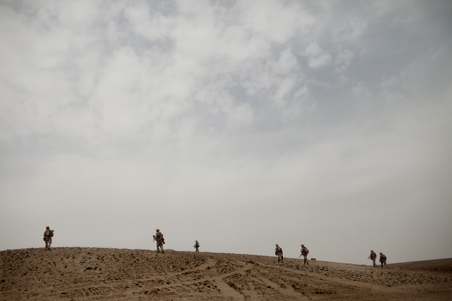 'MARJA,AFGHANISTAN' for Time Magazine: U.S. Marines clear an area for bombs in Marja District, Helmand Province, Afghanistan.