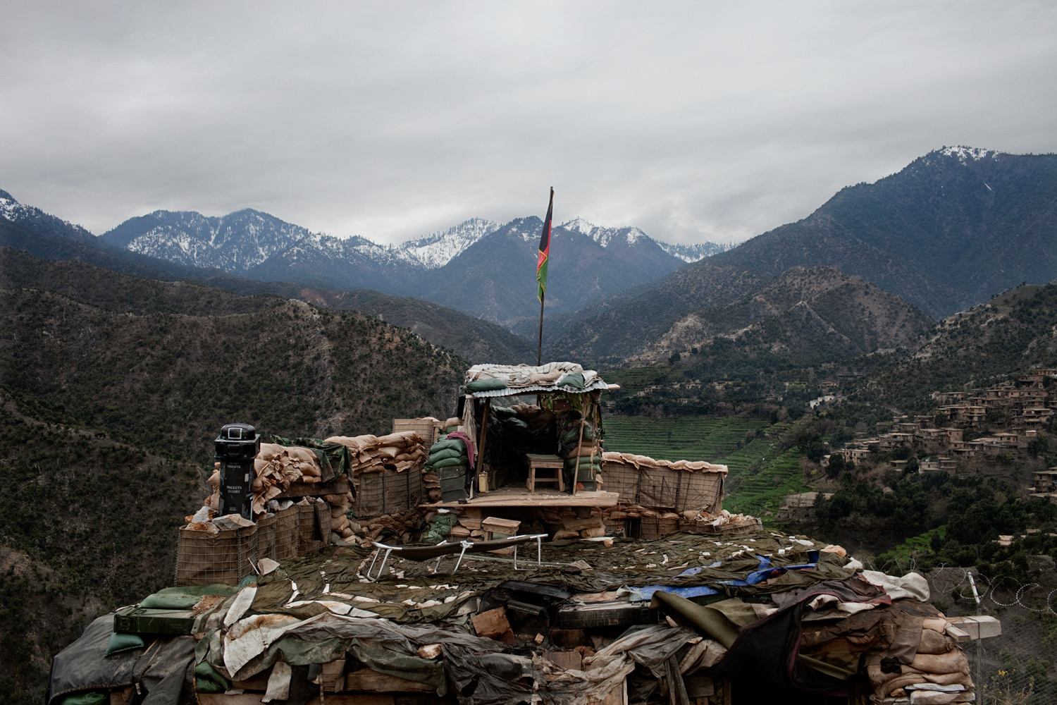 An Afghan Army observation post near the Korengal Outpost, Kunar Province, Afghanistan.