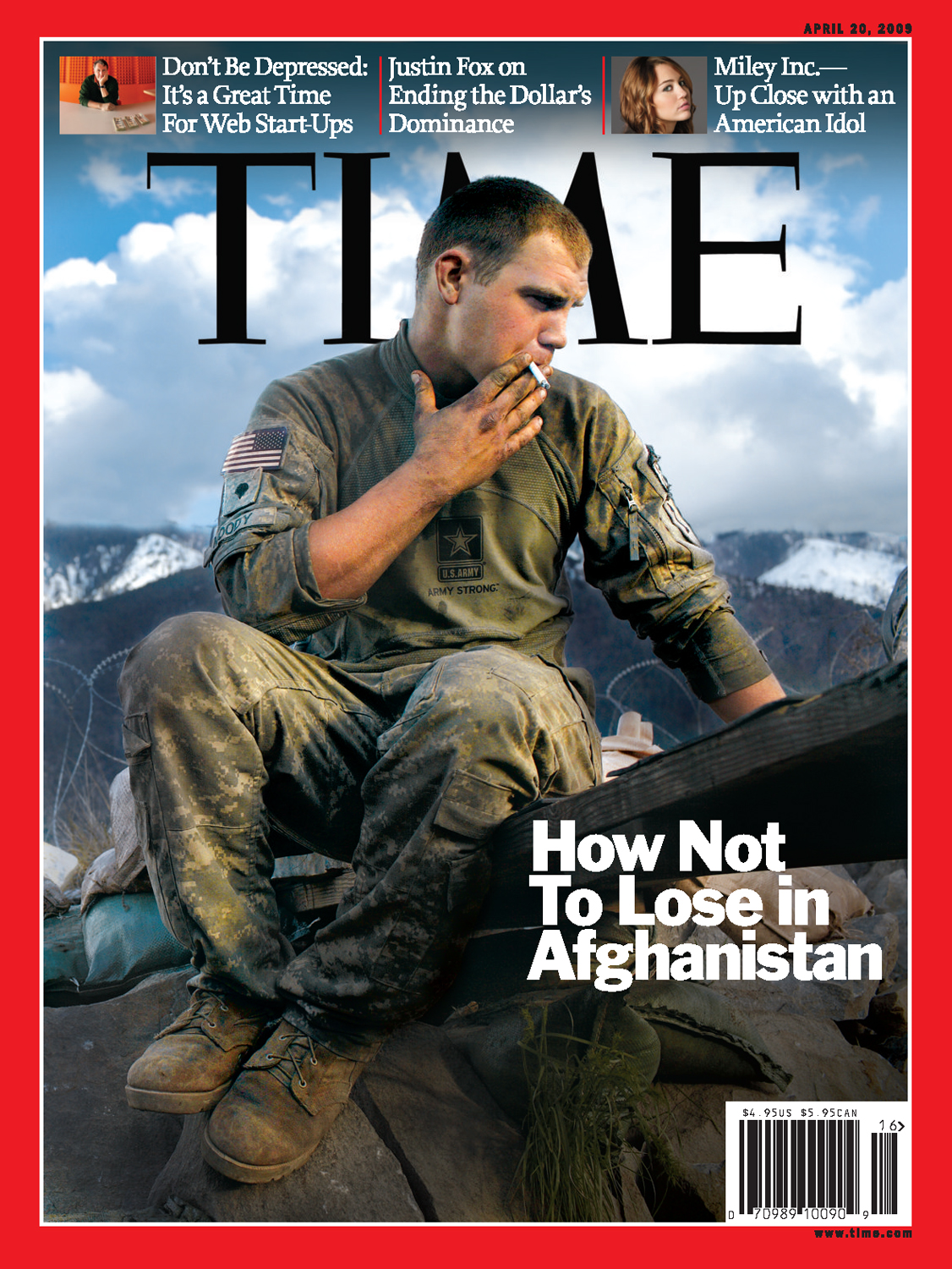 'KORENGAL VALLEY, AFGHANISTAN' for Time Magazine