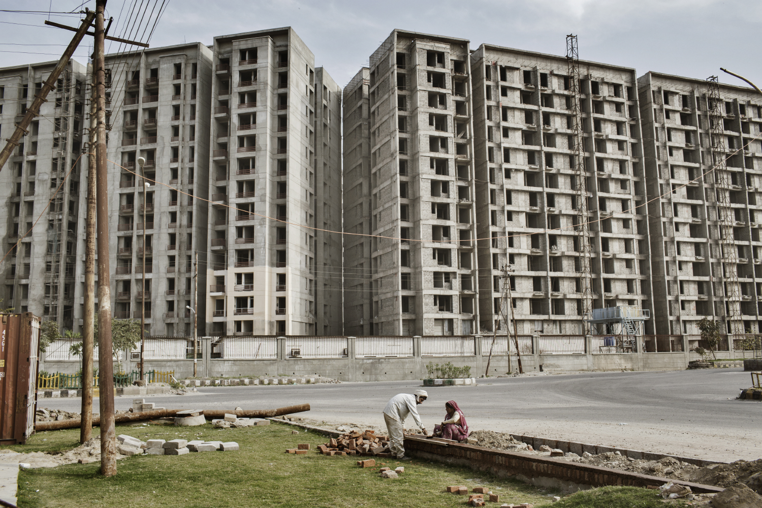 A view of a construction site in Greater Noida, Uttar Pradesh, India.