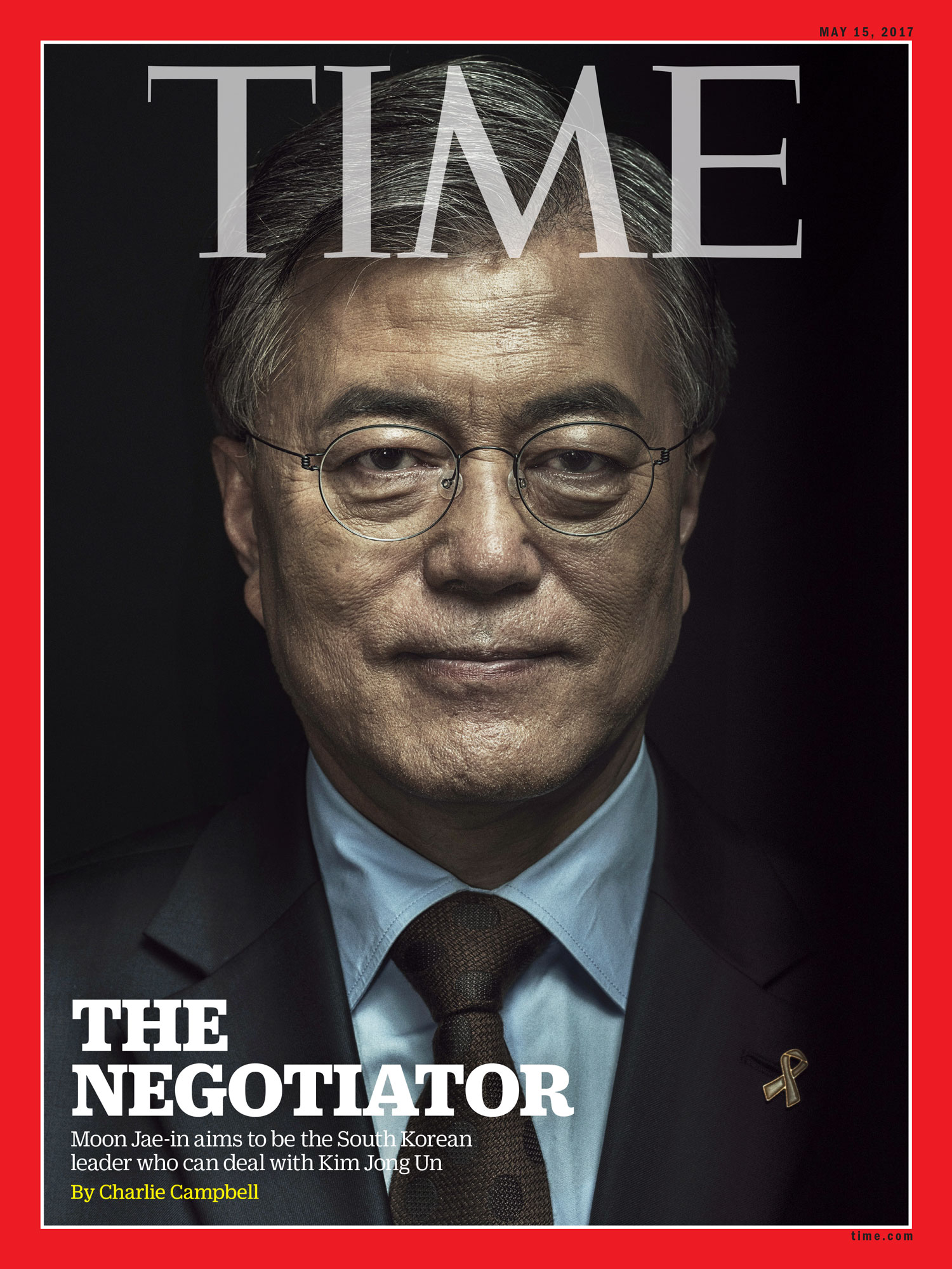 Moon Jae-in, President of South Korea for  TIME Magazine , 2017
