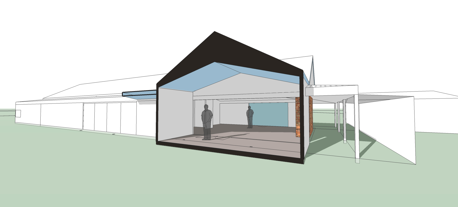 Haddon Strawbale: Rendered strawbale addition and retrofit, airtight passive house principles, solar heating.