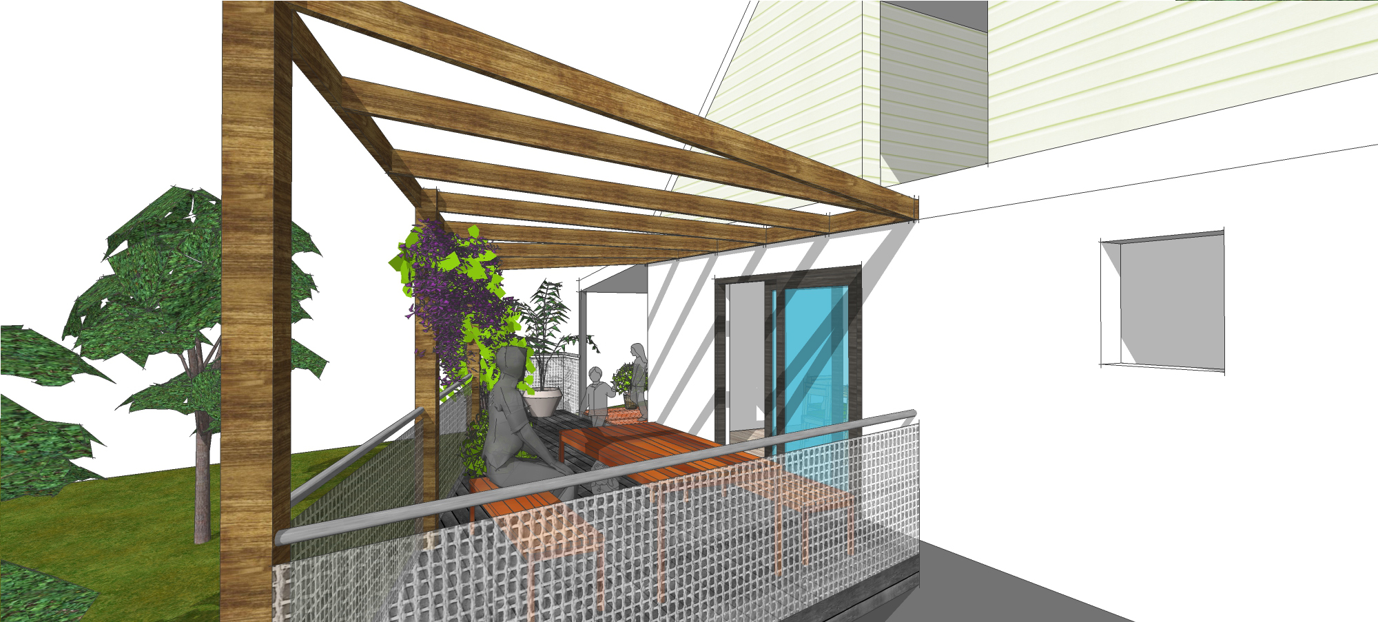 Sure Thing: Smart remodelling, efficient zoning, dramatic outdoor living deck.