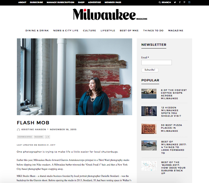 - See our feature in the November, 2015 Milwaukee Magazine!