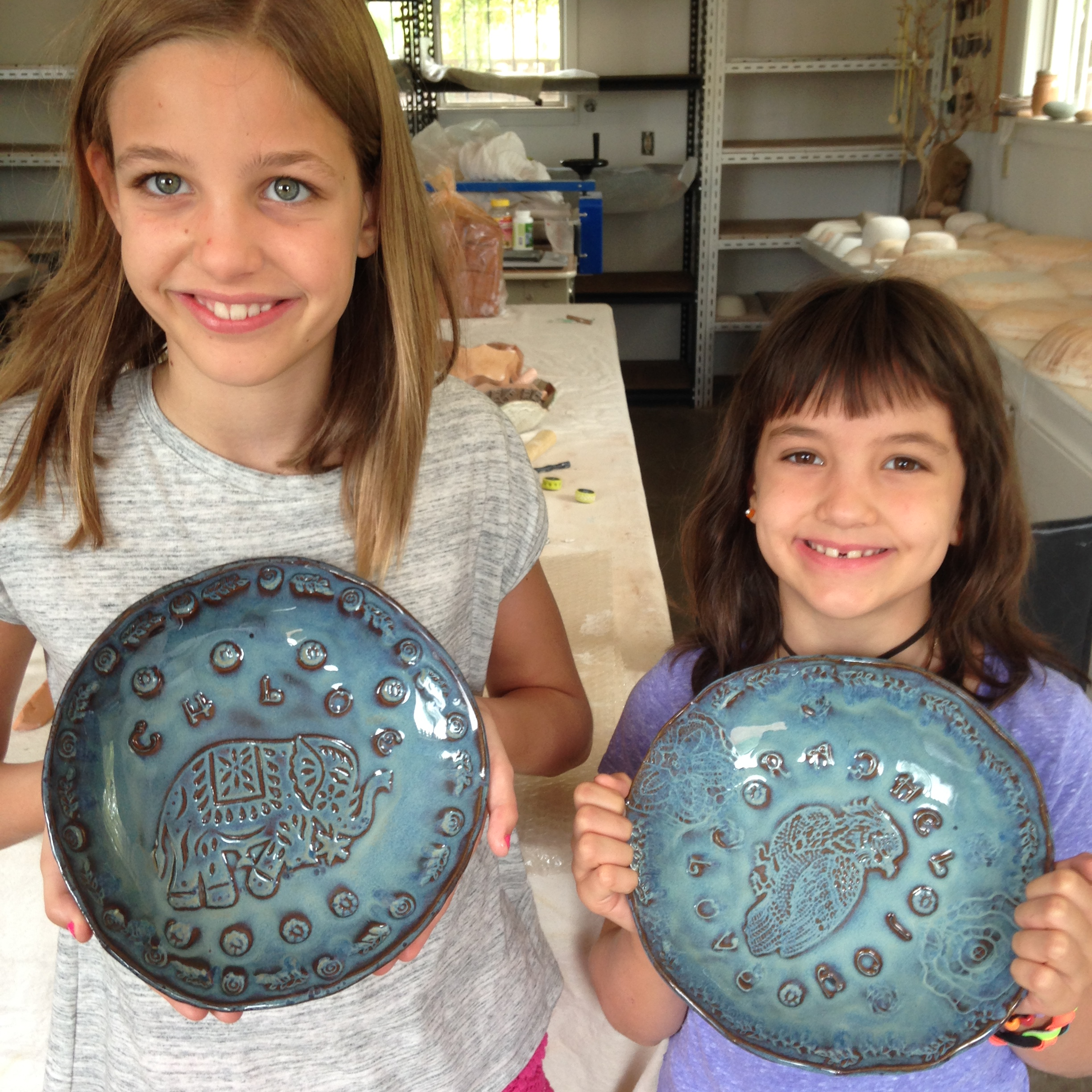 Chloe and Rachel made these amazing plates for them!