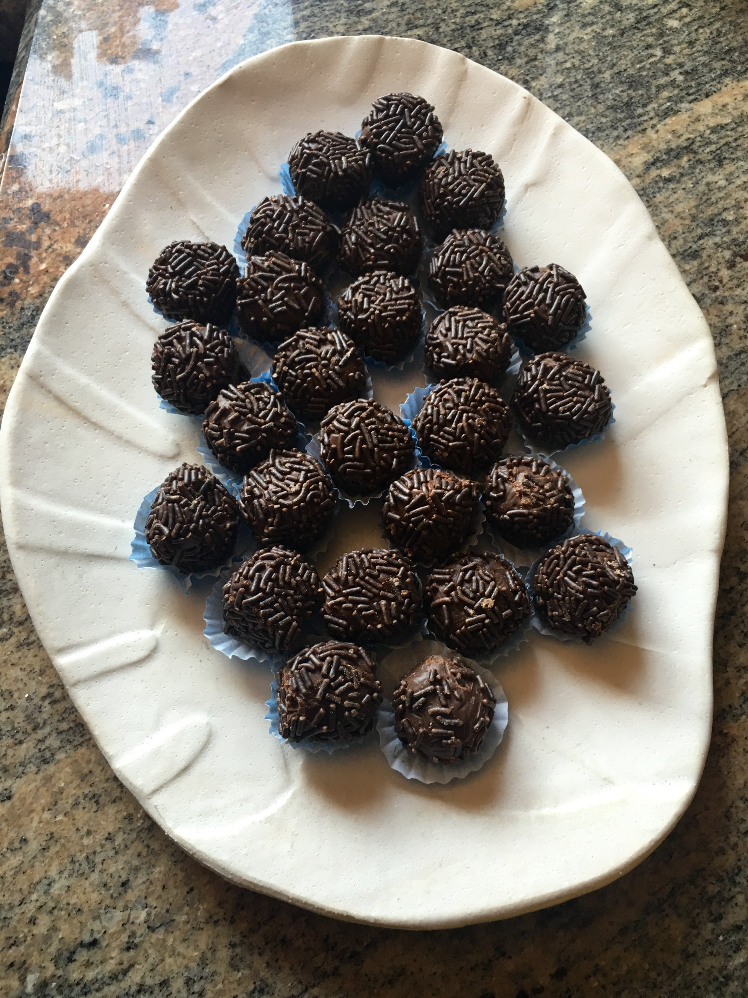 """""""Brigadeiros"""" Made in Brazil and brought by my mom this month!! Hummmmm"""