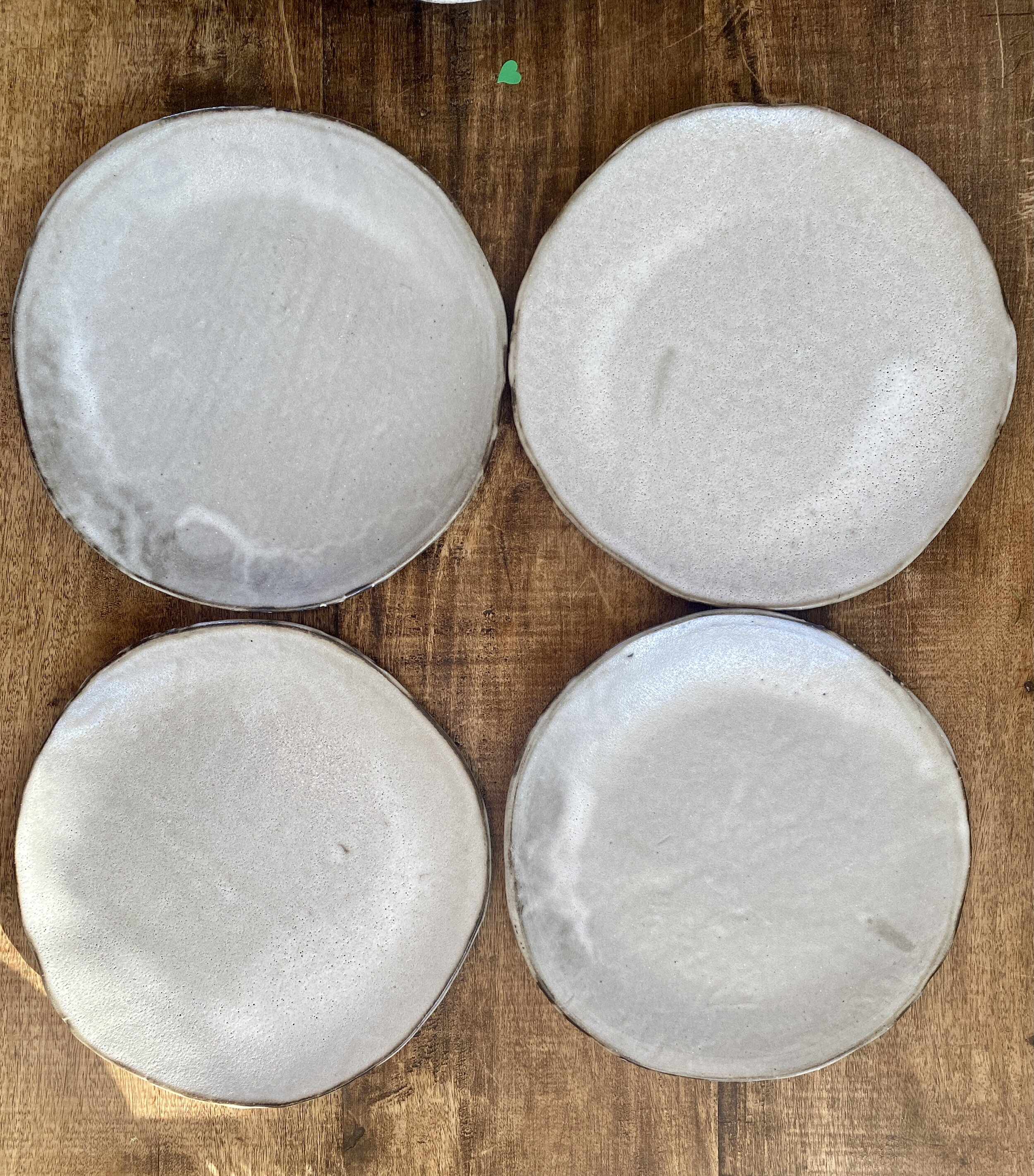 Modern And Chic Ceramic Dinner Plates Set Of 4 Glossy Dirty White Glaze On A Black Clay Body Cool And Clean And Inspired By Nature Blue Door Ceramics