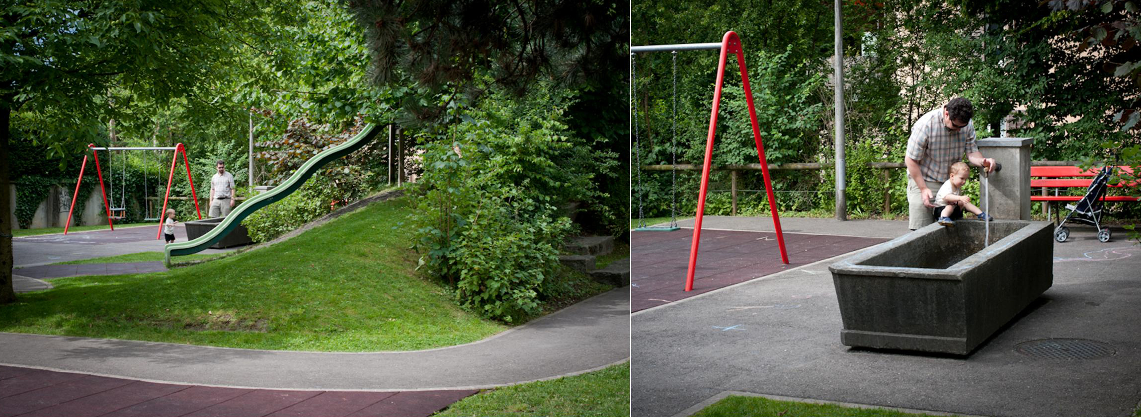A small, nature-rich playground in Lucerne