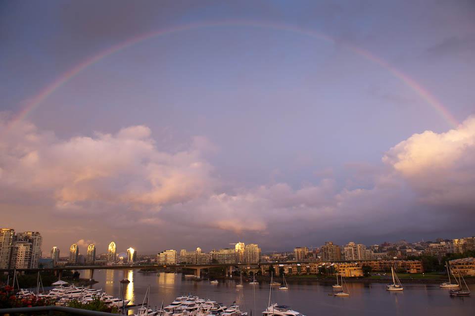 Rainbow over False Creek