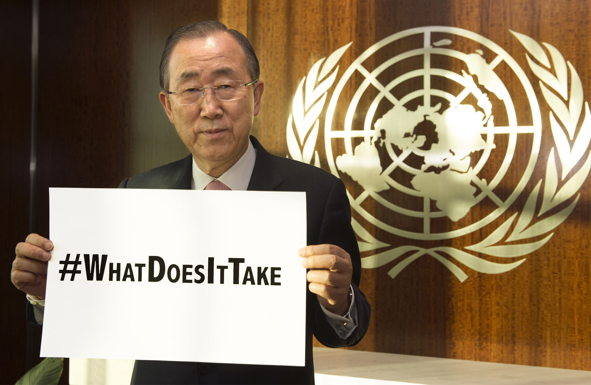 Ban Ki-moon, Secretary General of the United Nations (2007-2016) participating.