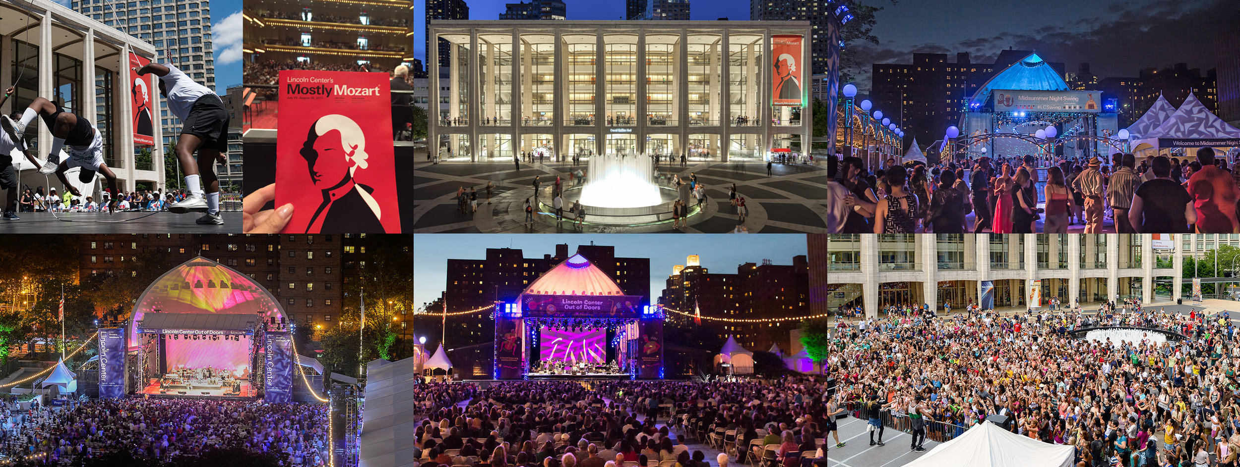 Lincoln Center's campus during festival season