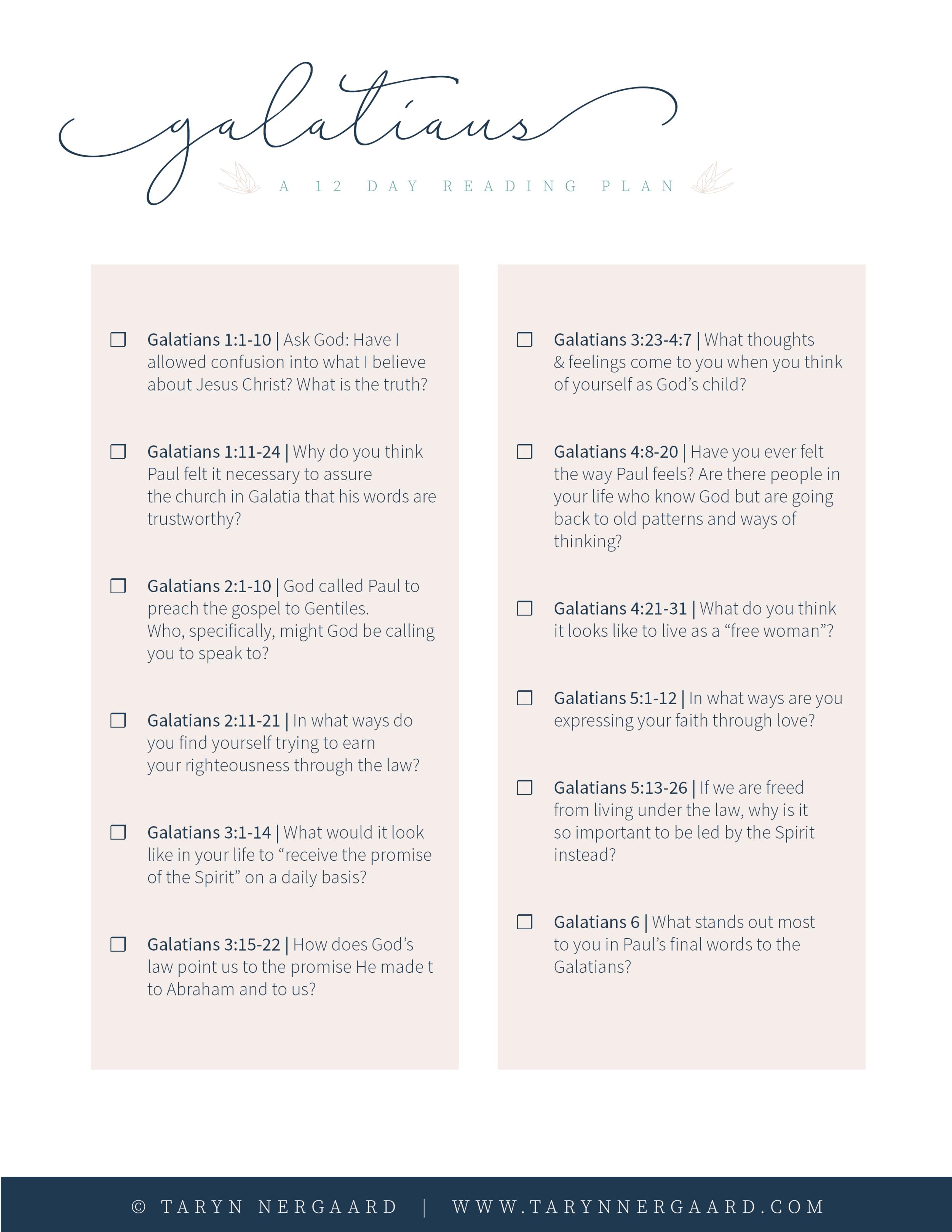 Galatians Reading Plan