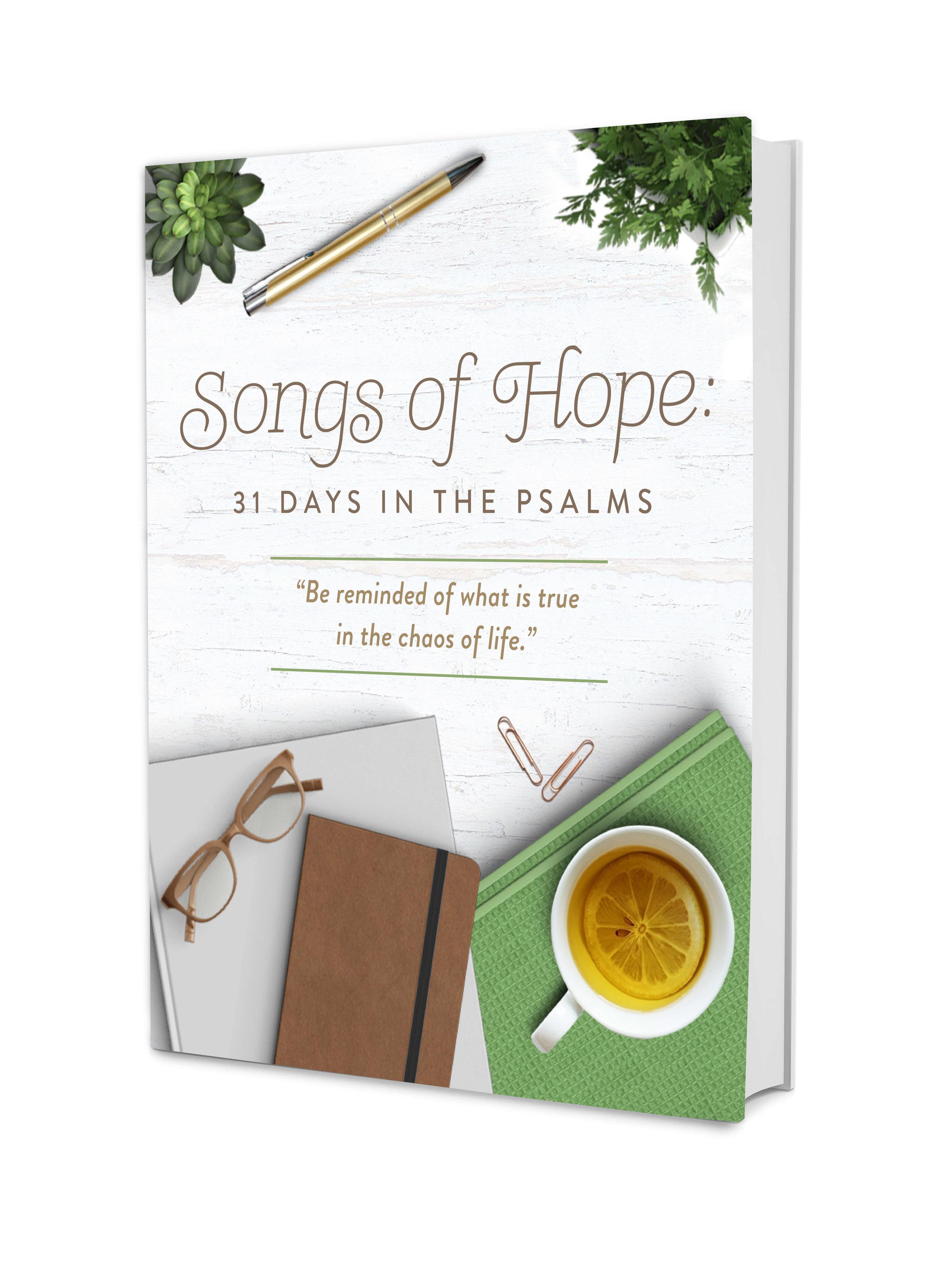 songs of hope psalms devotional hard copy