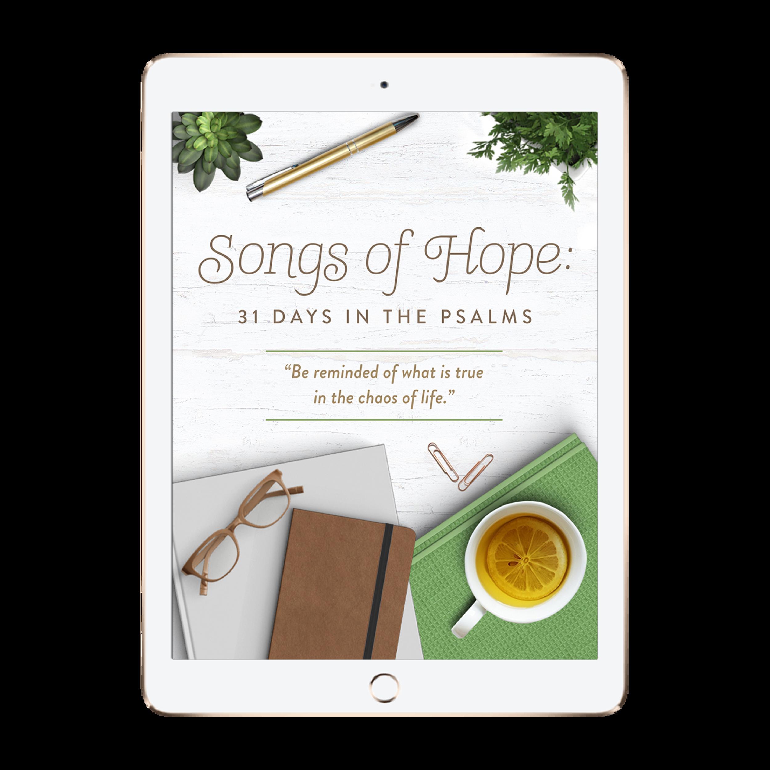 songs of hope psalms devotional digital ebook