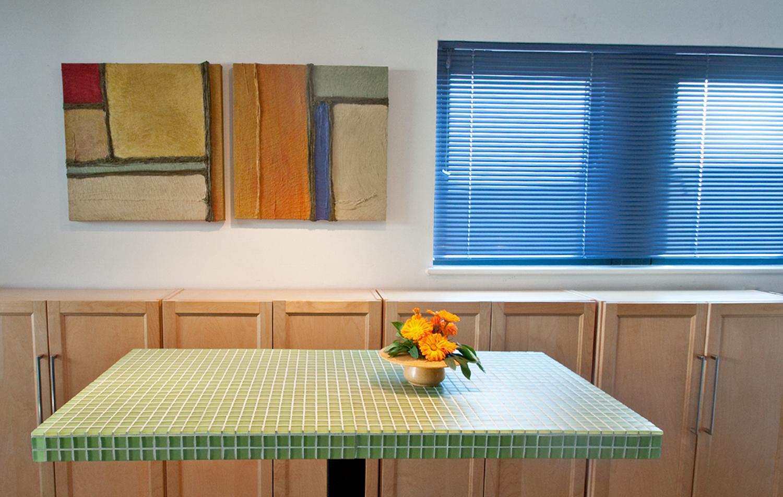 IpliDesign Green Glass Tile Table
