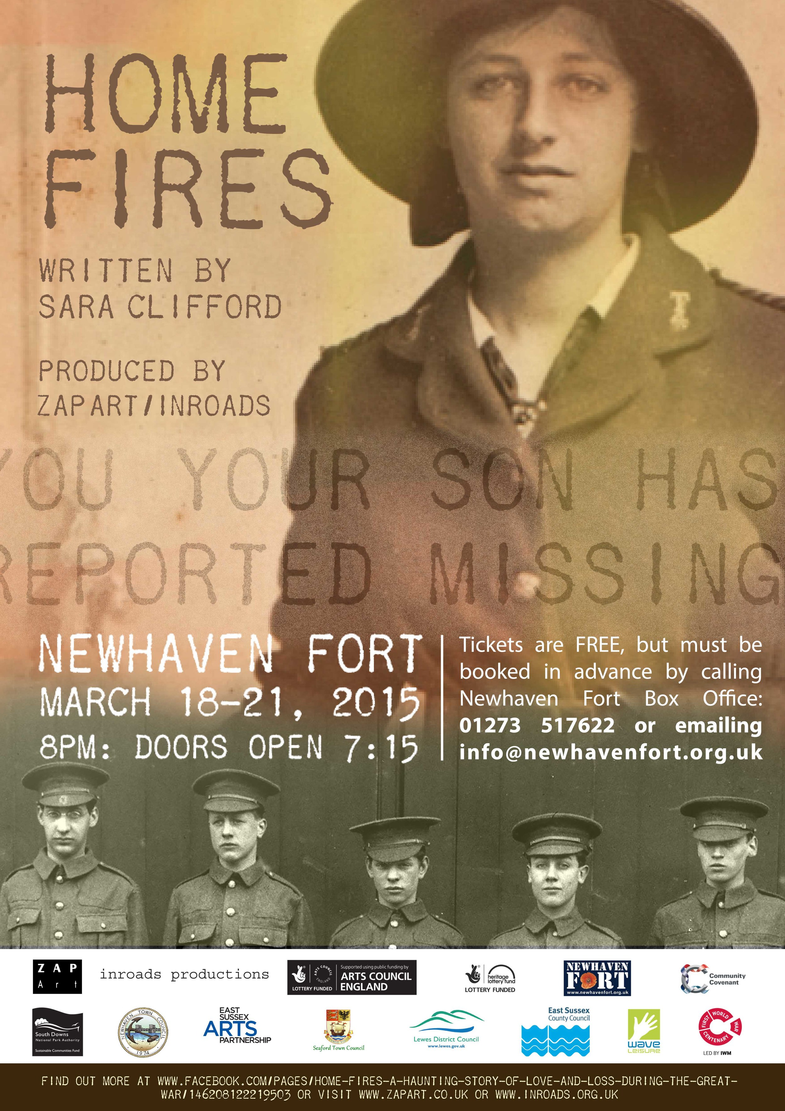 Stunning leaflet of the Play Home Fires by 100Designs