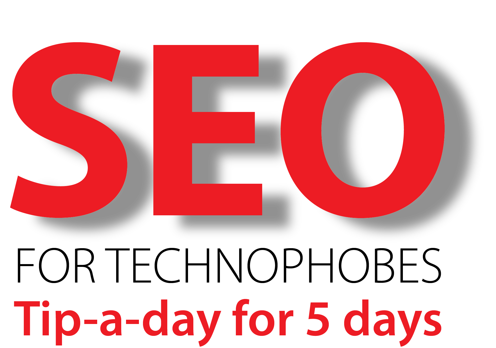 SEO for technophobes logo for 100Designs blog