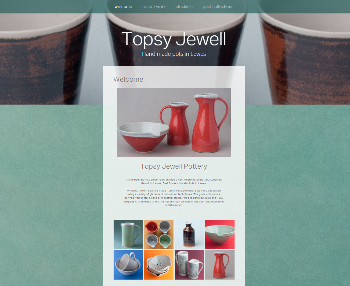 Topsy Jewell Pottery Welcome Page Screenshot.jpg