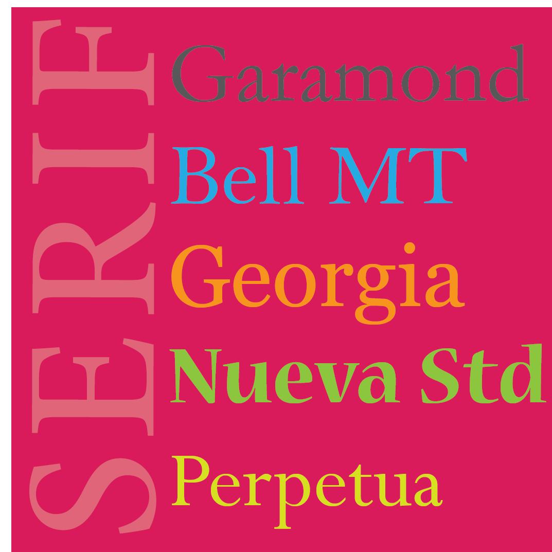 Image of serif fonts