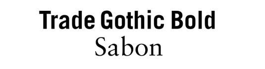 This pairing often works best with Trade (bolder and weightier)used for headings and titles and Sabon used for the body text. Both fonts are highly legible, with a high  X-height,  but are not too similar to one another and show sans serifs and serifs partnerships working well.