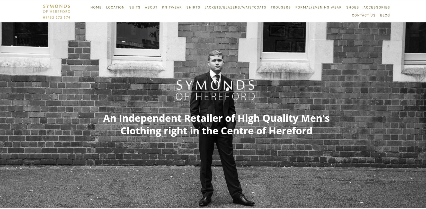Copy of Home page of Symonds of Hereford website