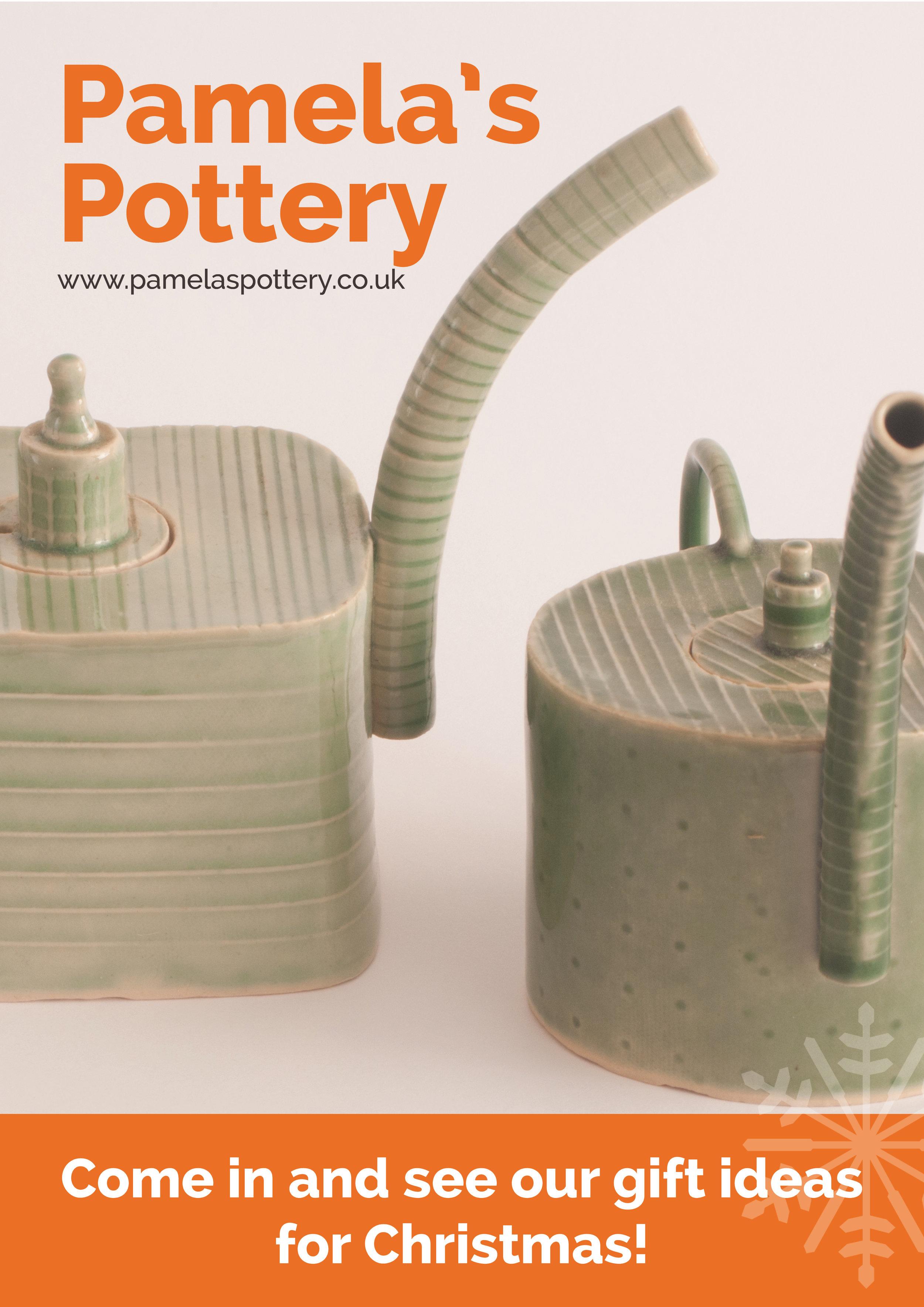 Pamela's pottery leaflet