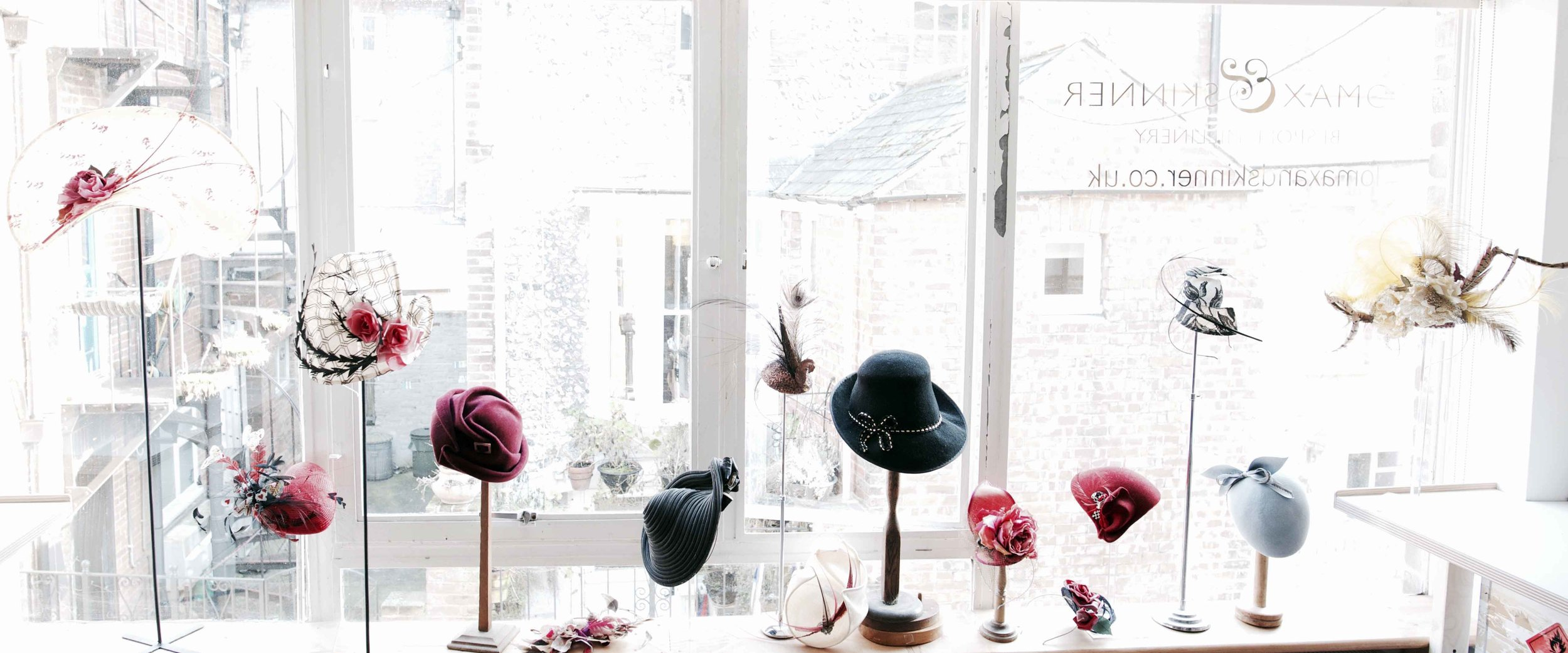 Lomax and Skinner fine millinery in Sussex
