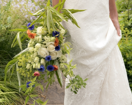 Bridal bouquet by Darling Buds of Sussex