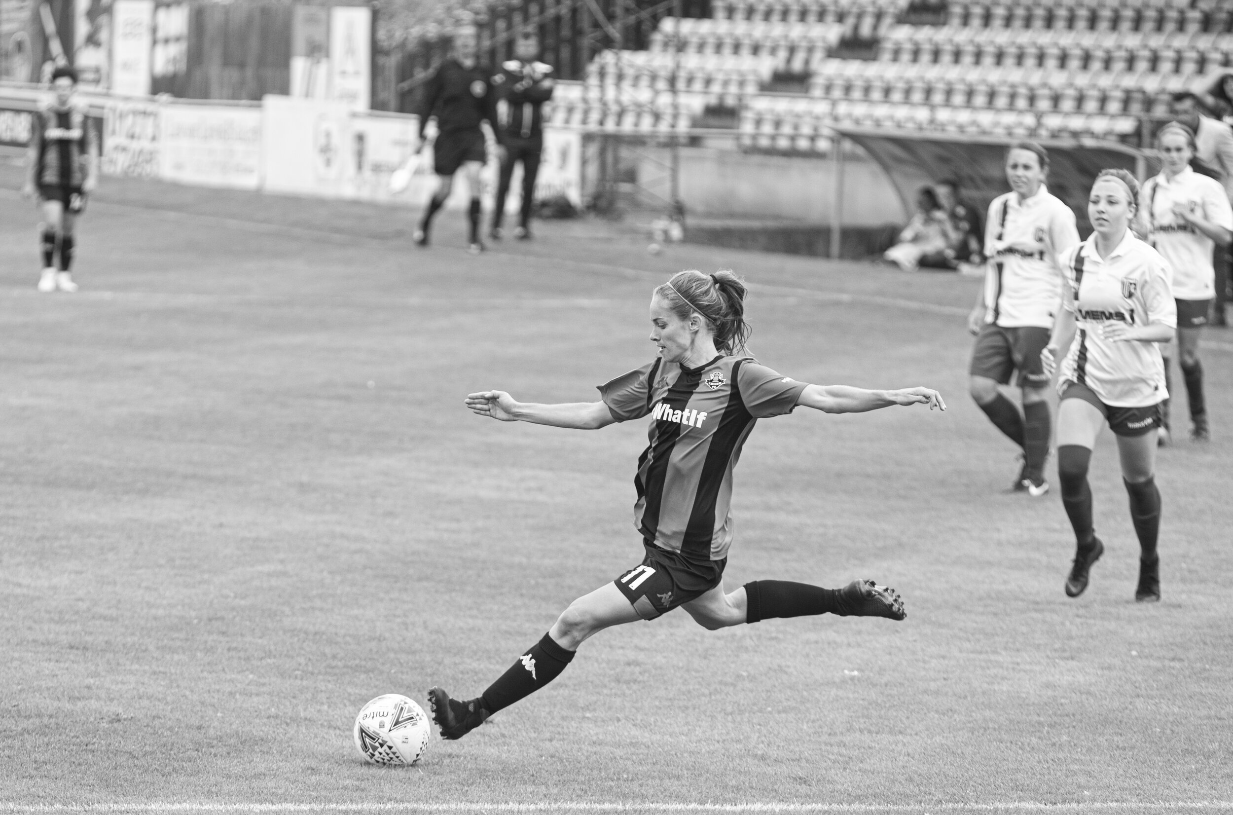 Lewes Women Football in mid kick.jpg