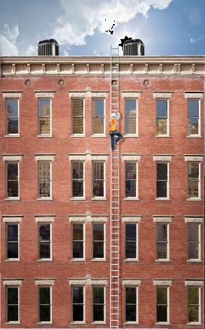 Climb the ladder.