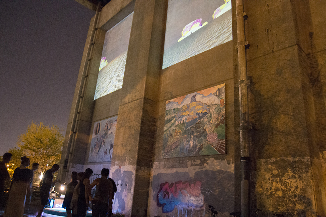 Mobile Projection carts by the Center for Urban Intervention (CUIR)