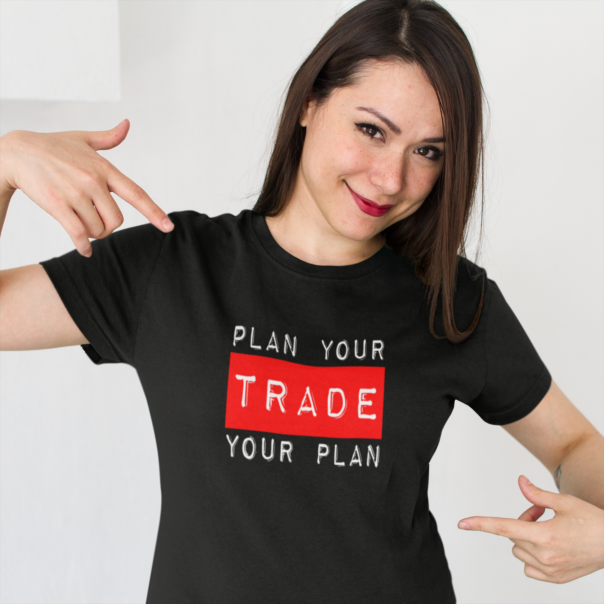 smiling-customer-showing-her-new-t-shirt-mockup-against-a-white-background-a15529.png