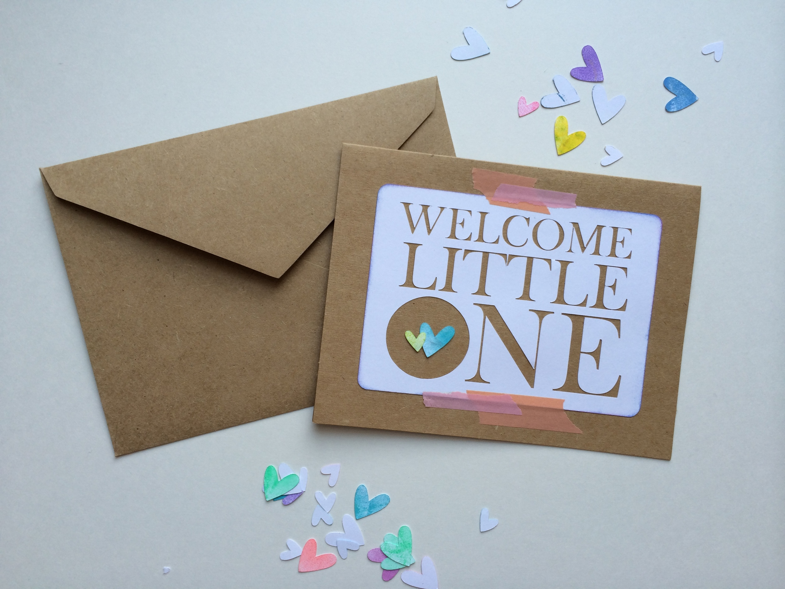Bsaz Creates-Welcome Little One-Maternity Card-Handmade