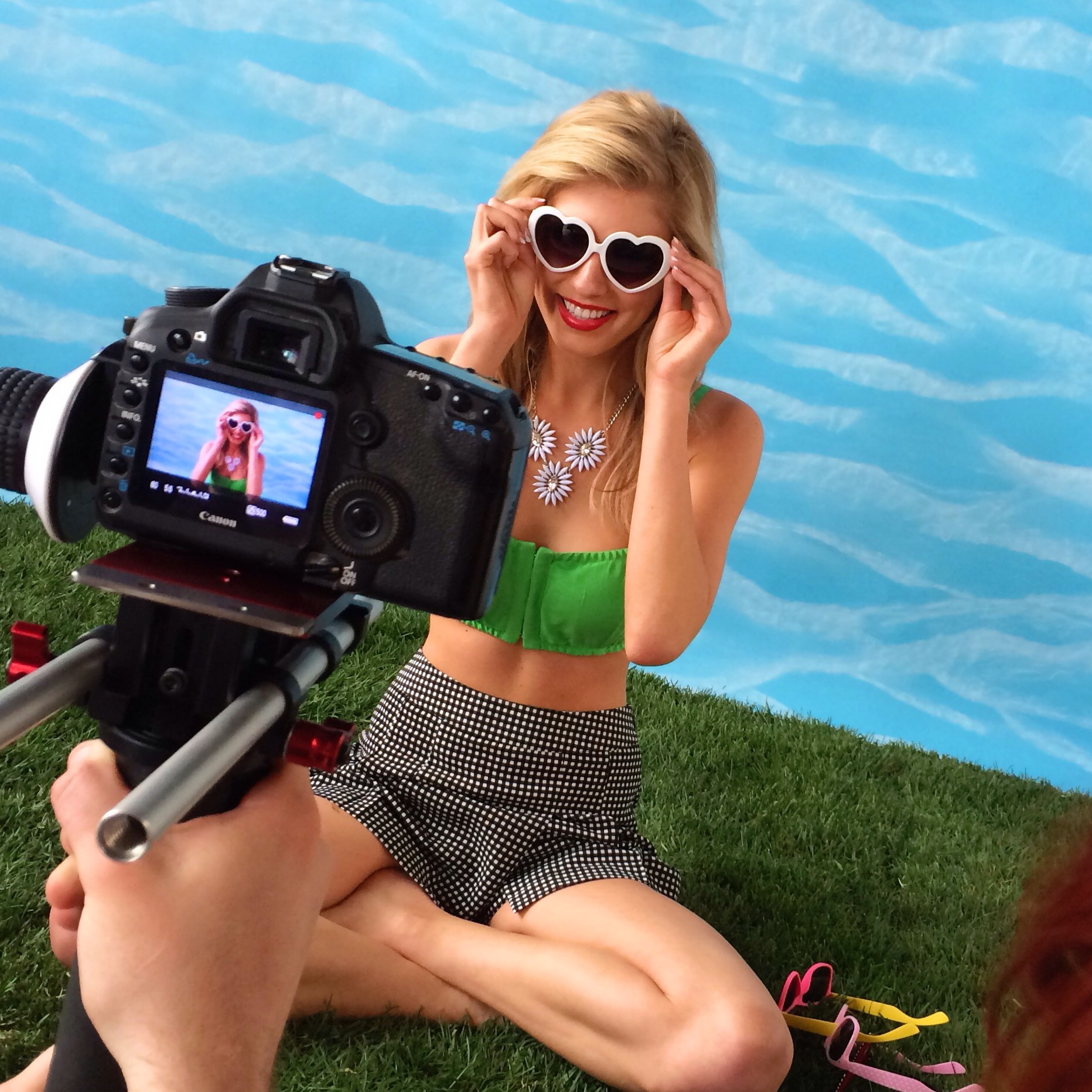 BSaz Creates | Summer Sky Backdrop Behind the Scenes