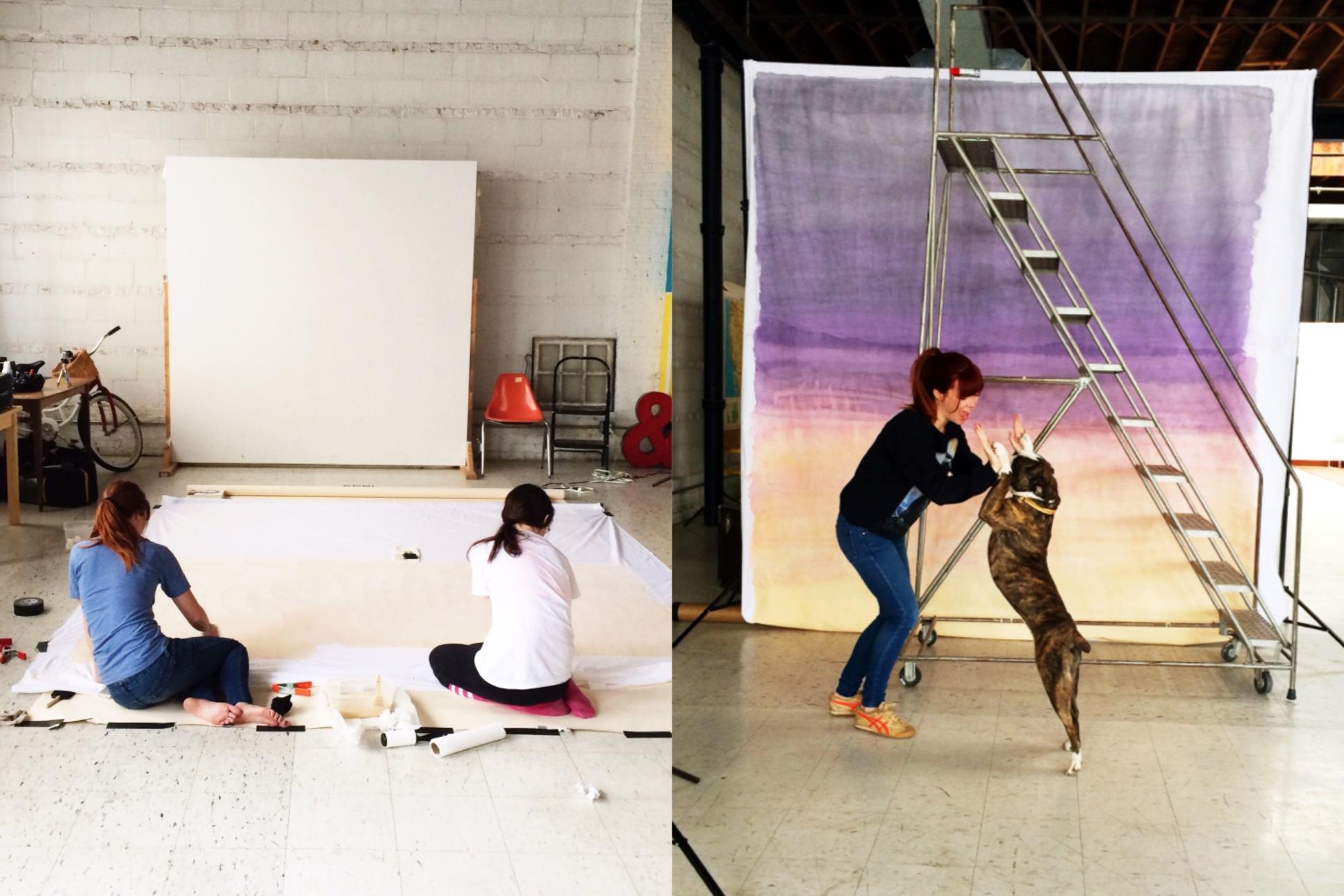 BSaz Creates | Set Backdrop Process
