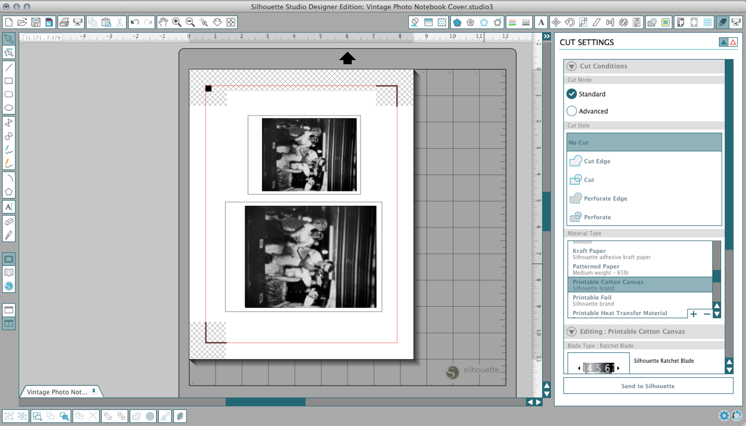 *if you do not own Silhouette Studio, simply print from another program and cut the image by hand