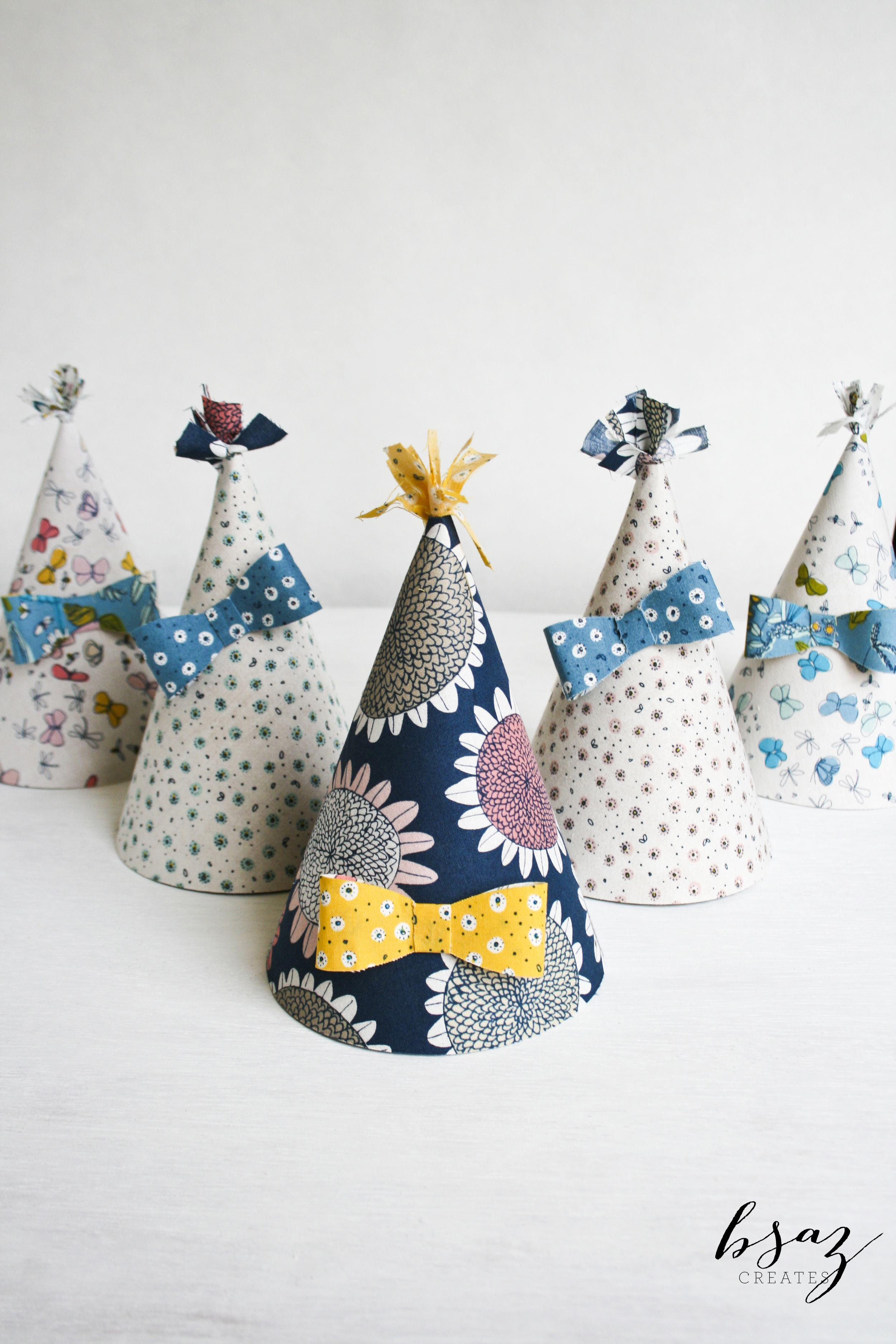 BSaz Creates | No Sew Fabric Party Hats for Silhouette America
