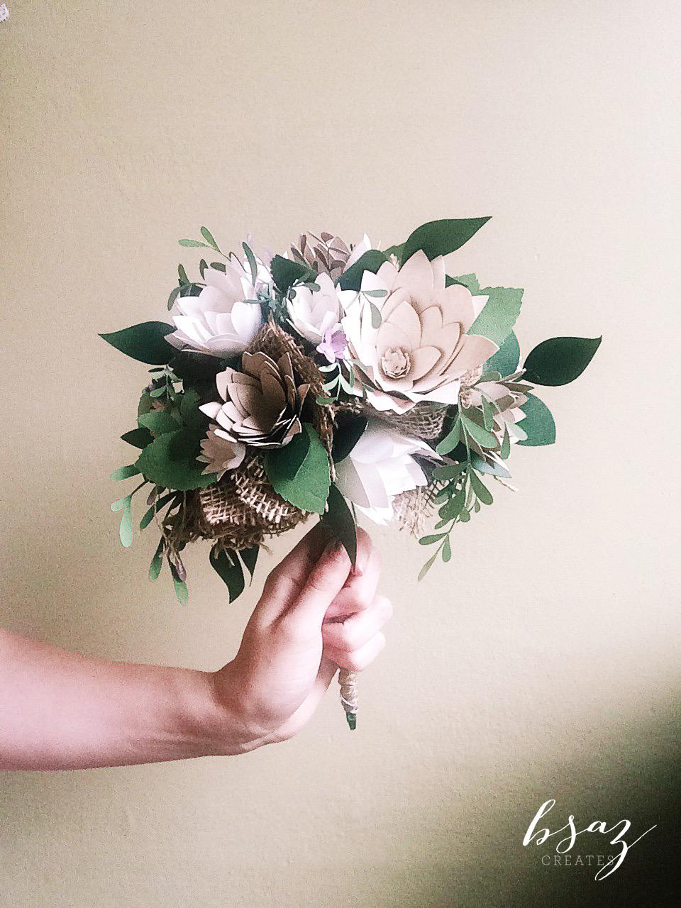 BSaz Creates Paper Floral Wedding Bouquet