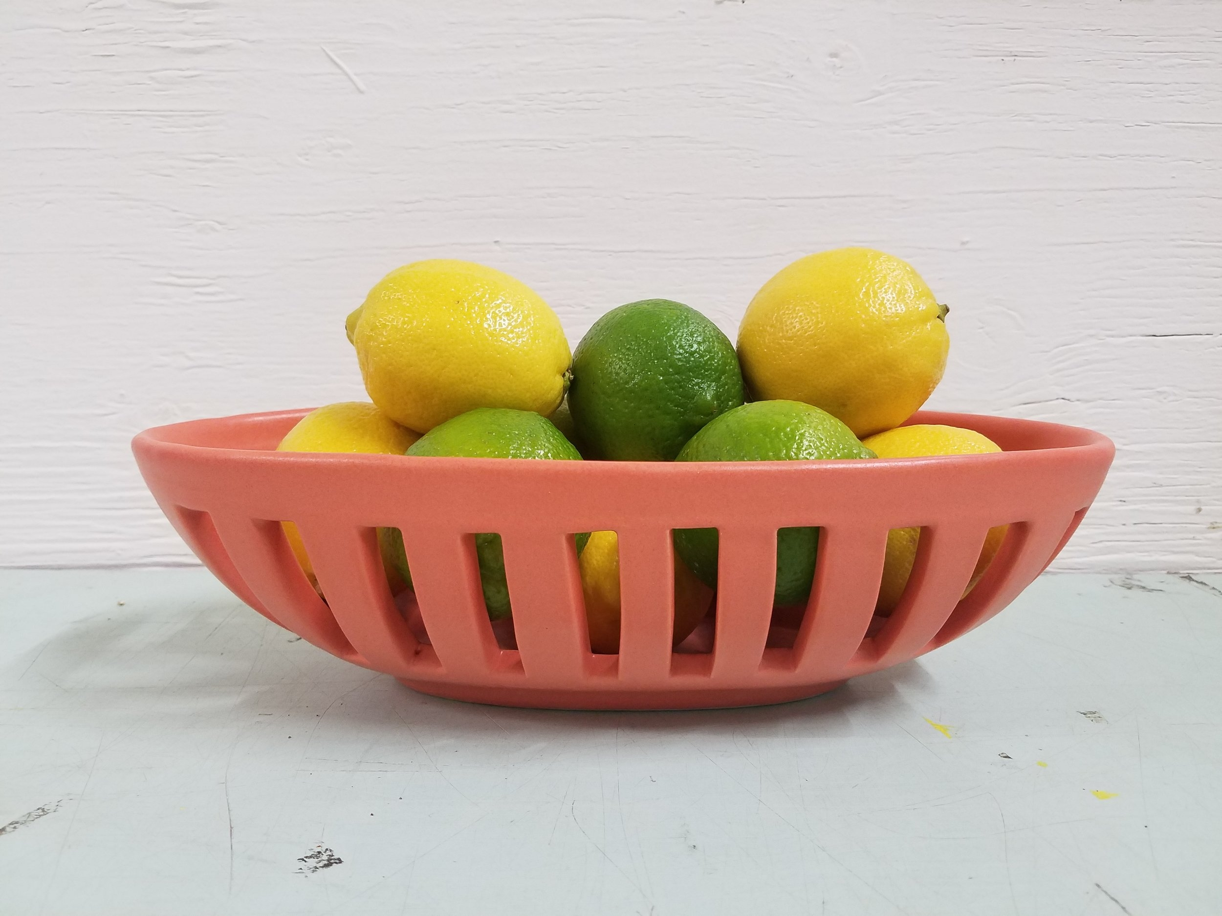 Oval Fruit Bowl - Coral