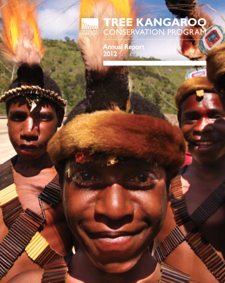 Cover photo and additional shots within the  Tree Kangaroo Conservation Program's 2012 annual report